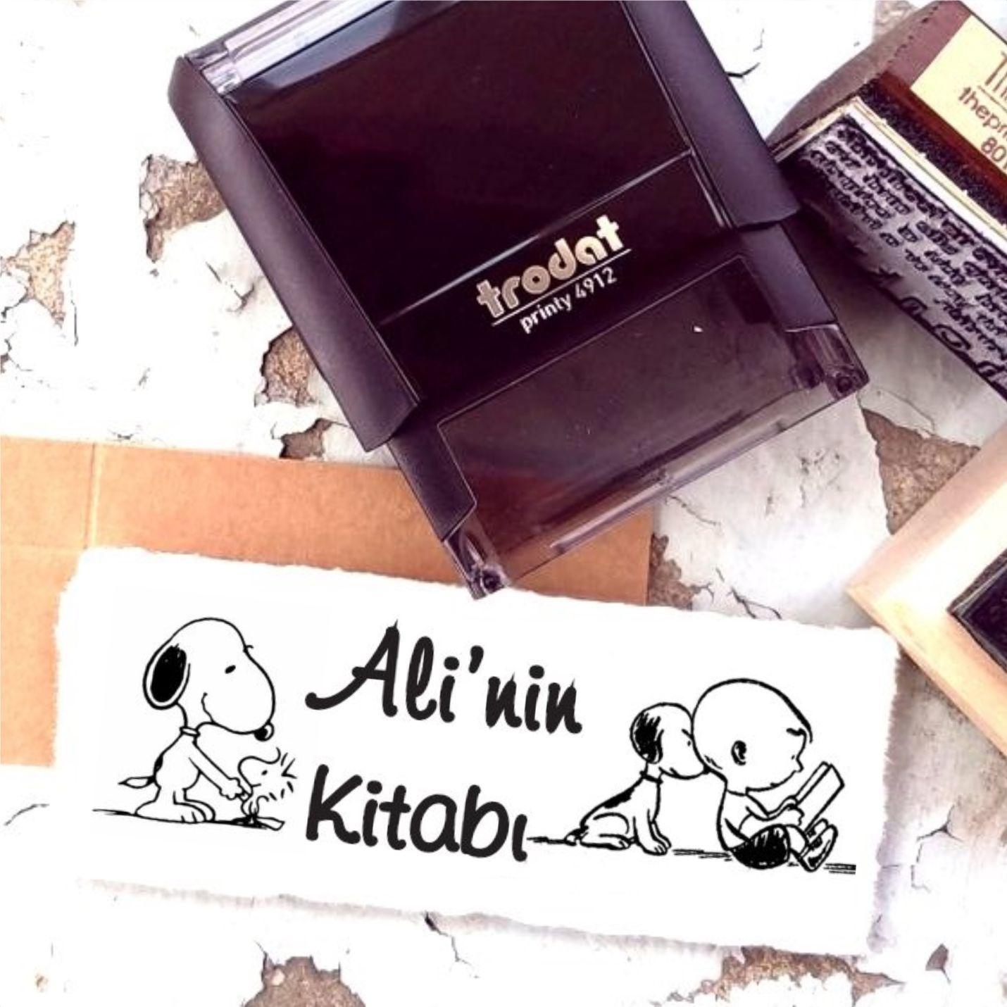 Kişiye Özel Snoopy Temalı Kitap Kaşesi - K1-1