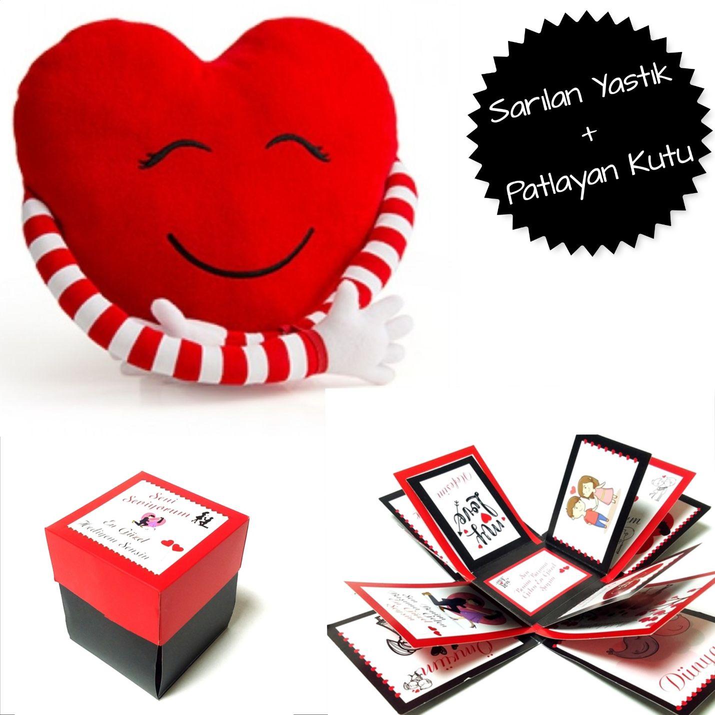 Sarılan Yastık Ve Romantik Patlayan Kutu - S24