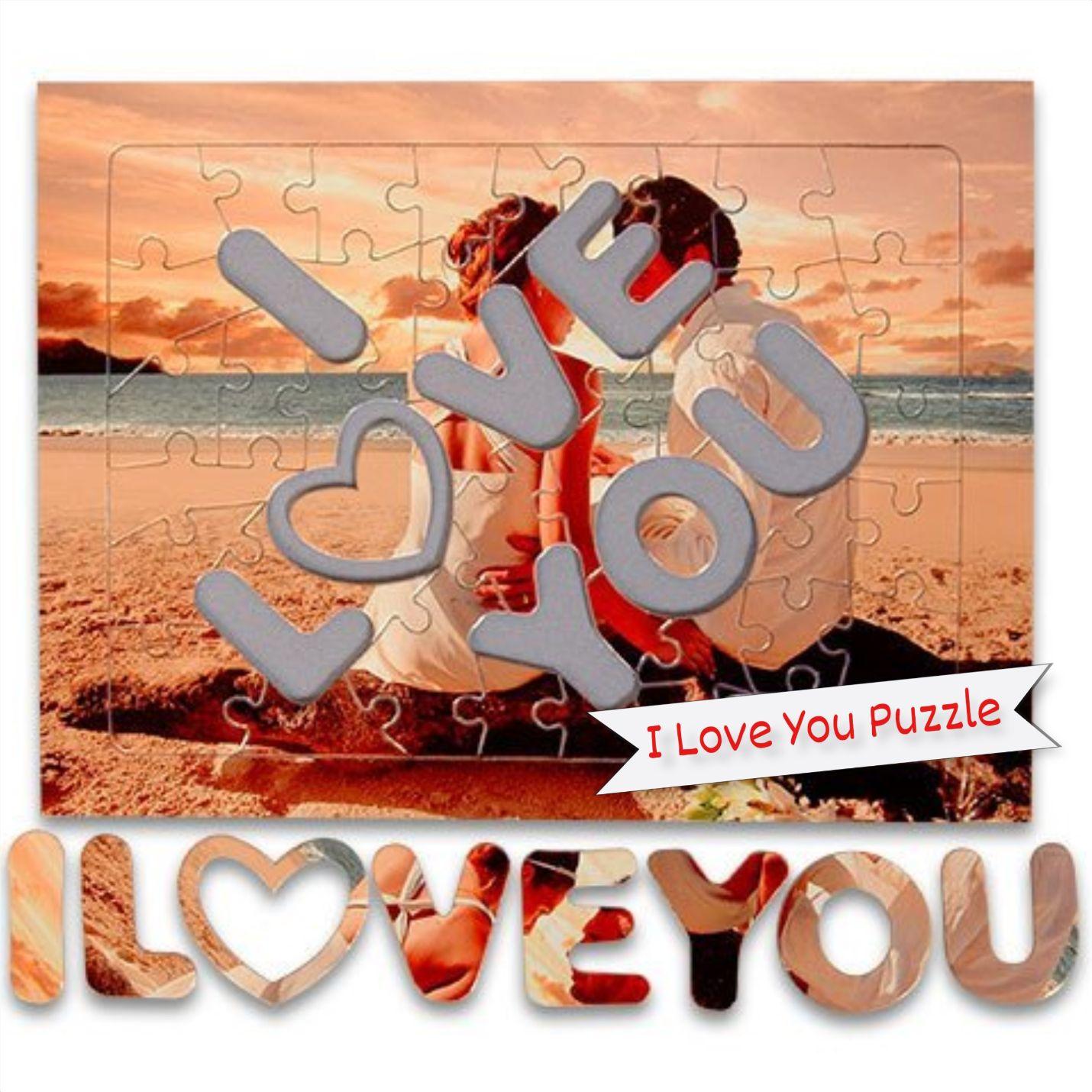 Kişiye Özel I Love You Puzzle