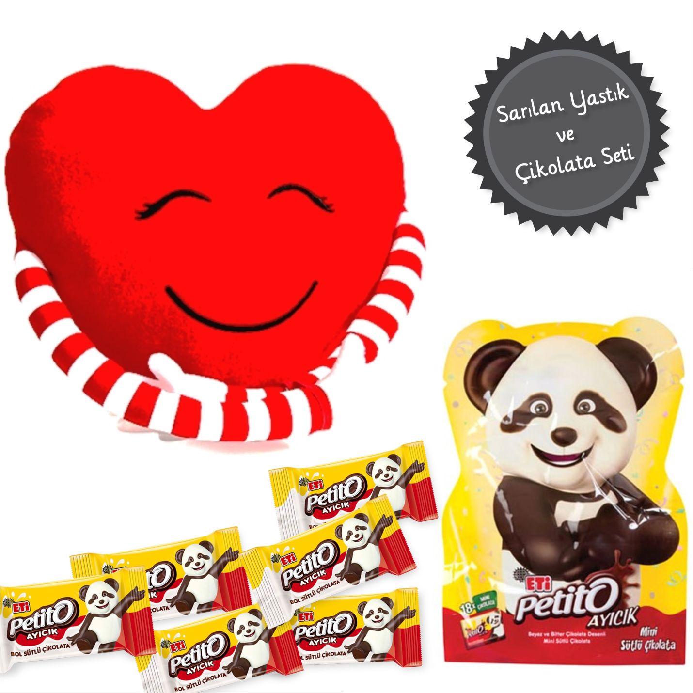 Sarılan Yastık Ve Petito Çikolata Kombini - K2