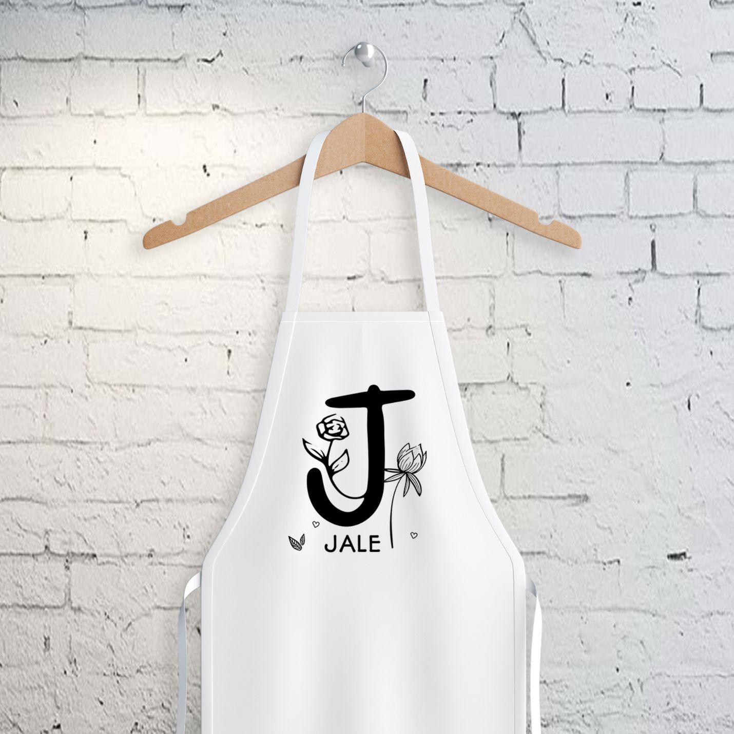 Kişiye Özel İsim Yazılı Mutfak Önlüğü - J