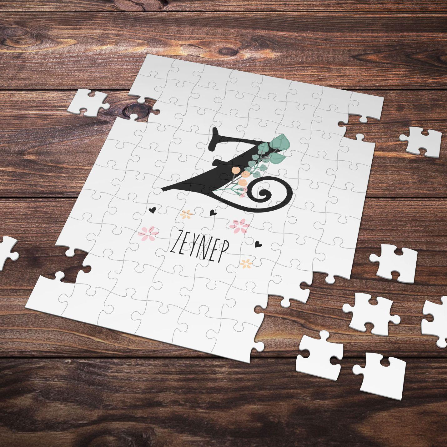 Kişiye Özel S Harfi Tasarımlı Puzzle