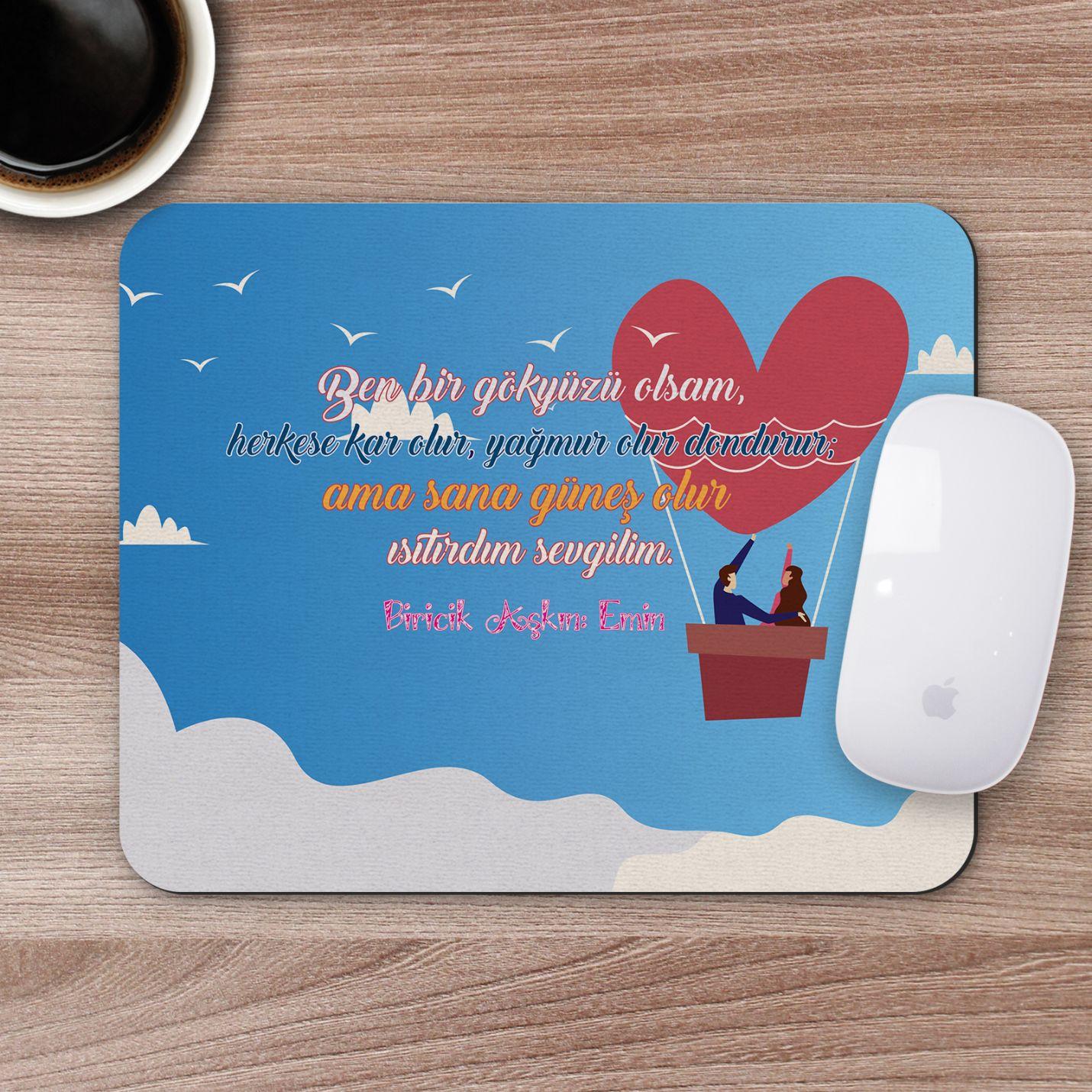Kişiye Özel Romantik Tasarımlı Mousepad - R2