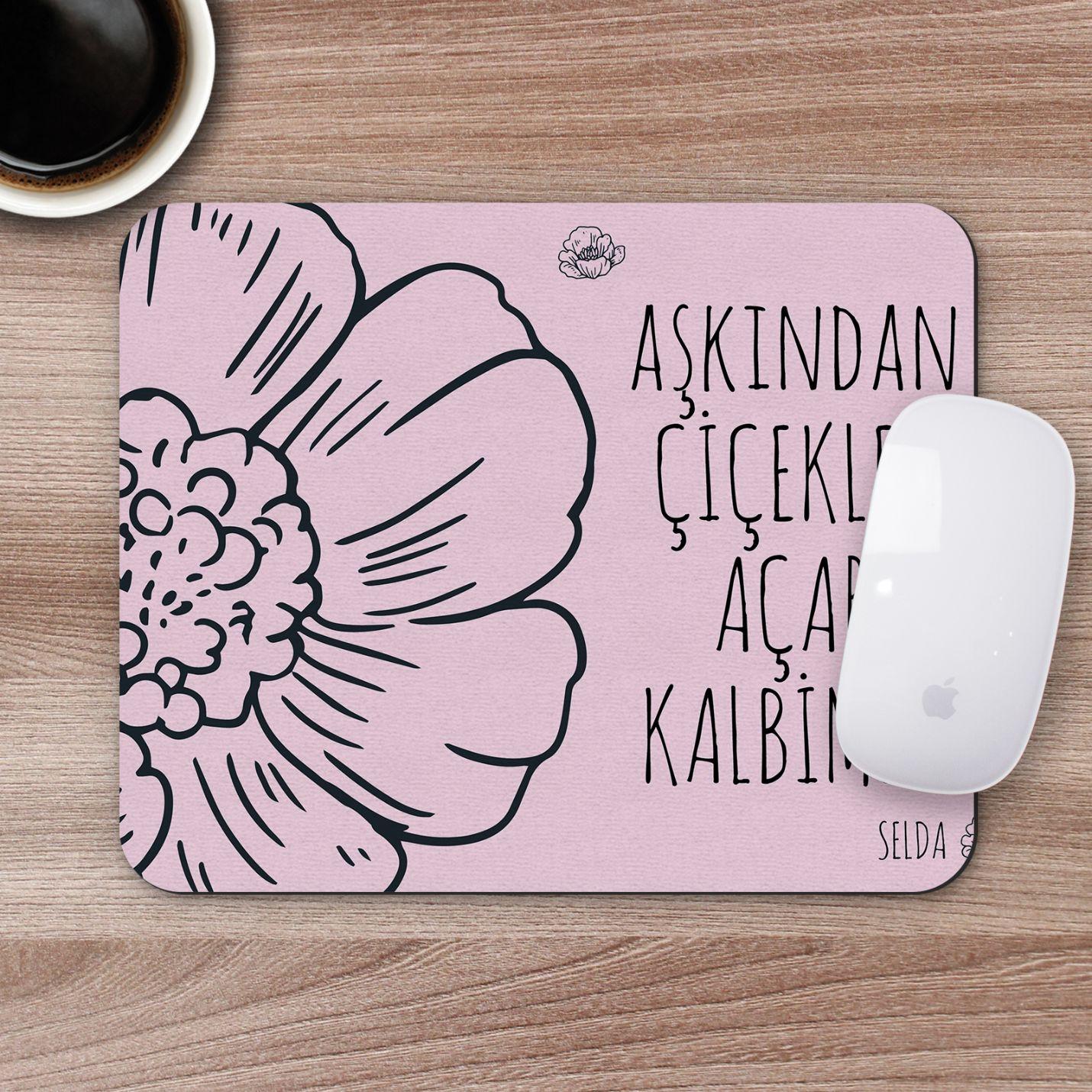 Kişiye Özel Romantik Tasarımlı Mousepad - R22