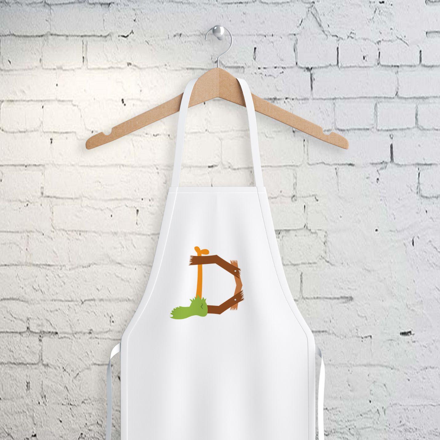 D Harfi Tasarımlı Mutfak Önlüğü