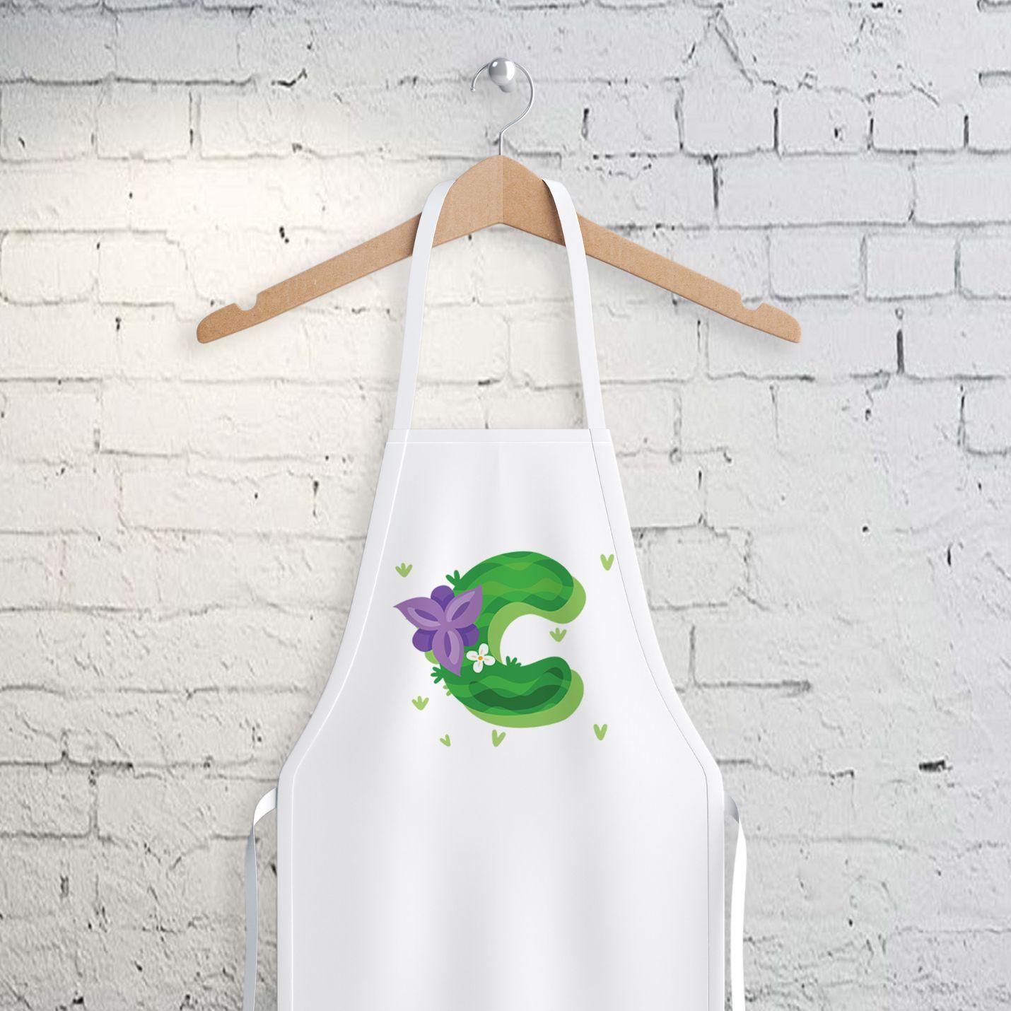 C Harfi Tasarımlı Mutfak Önlüğü