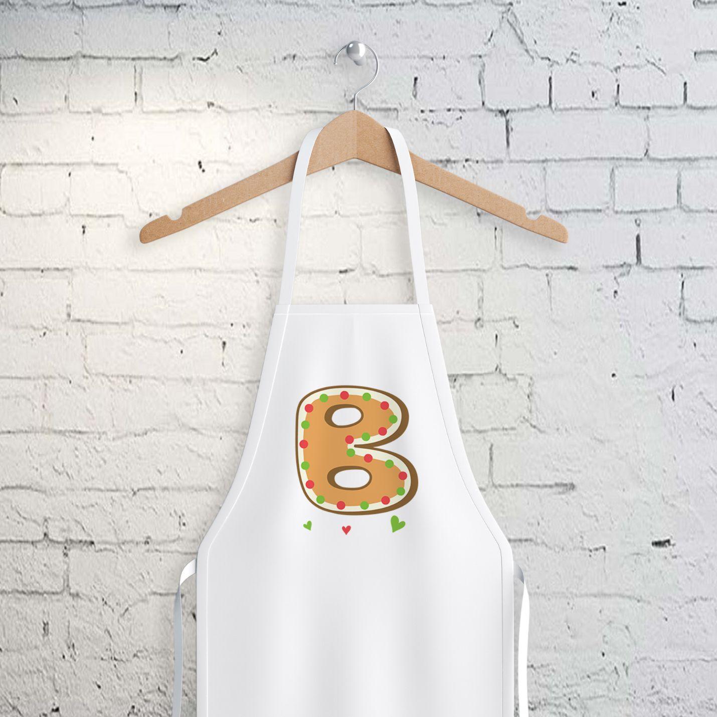 B Harfi Tasarımlı Mutfak Önlüğü