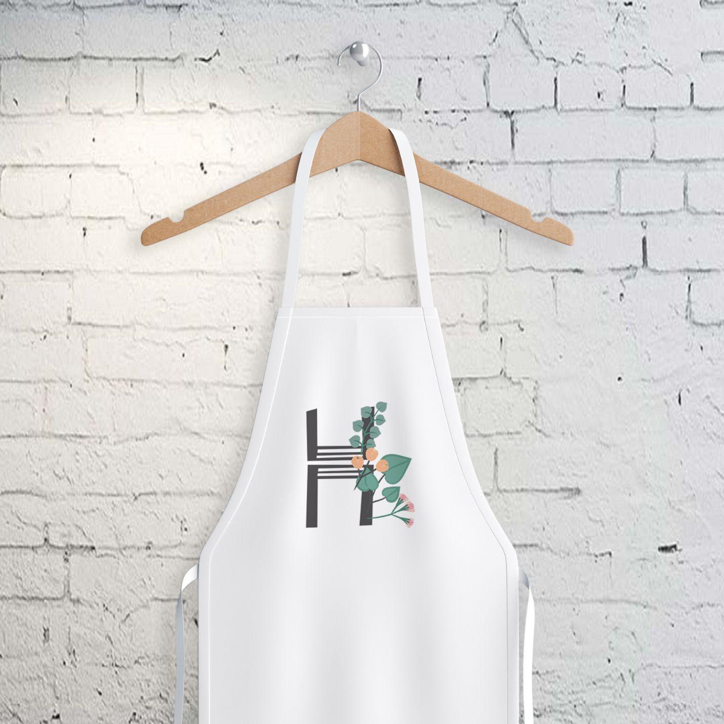 H Harfi Tasarımlı Mutfak Önlüğü