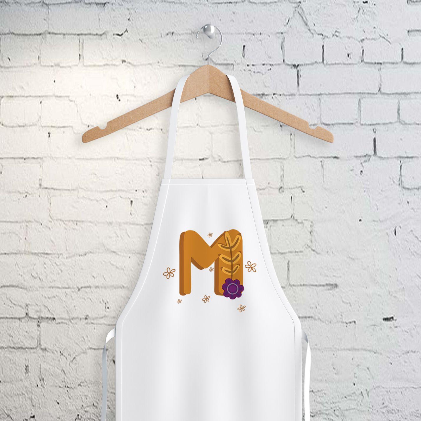 M Harfi Tasarımlı Mutfak Önlüğü