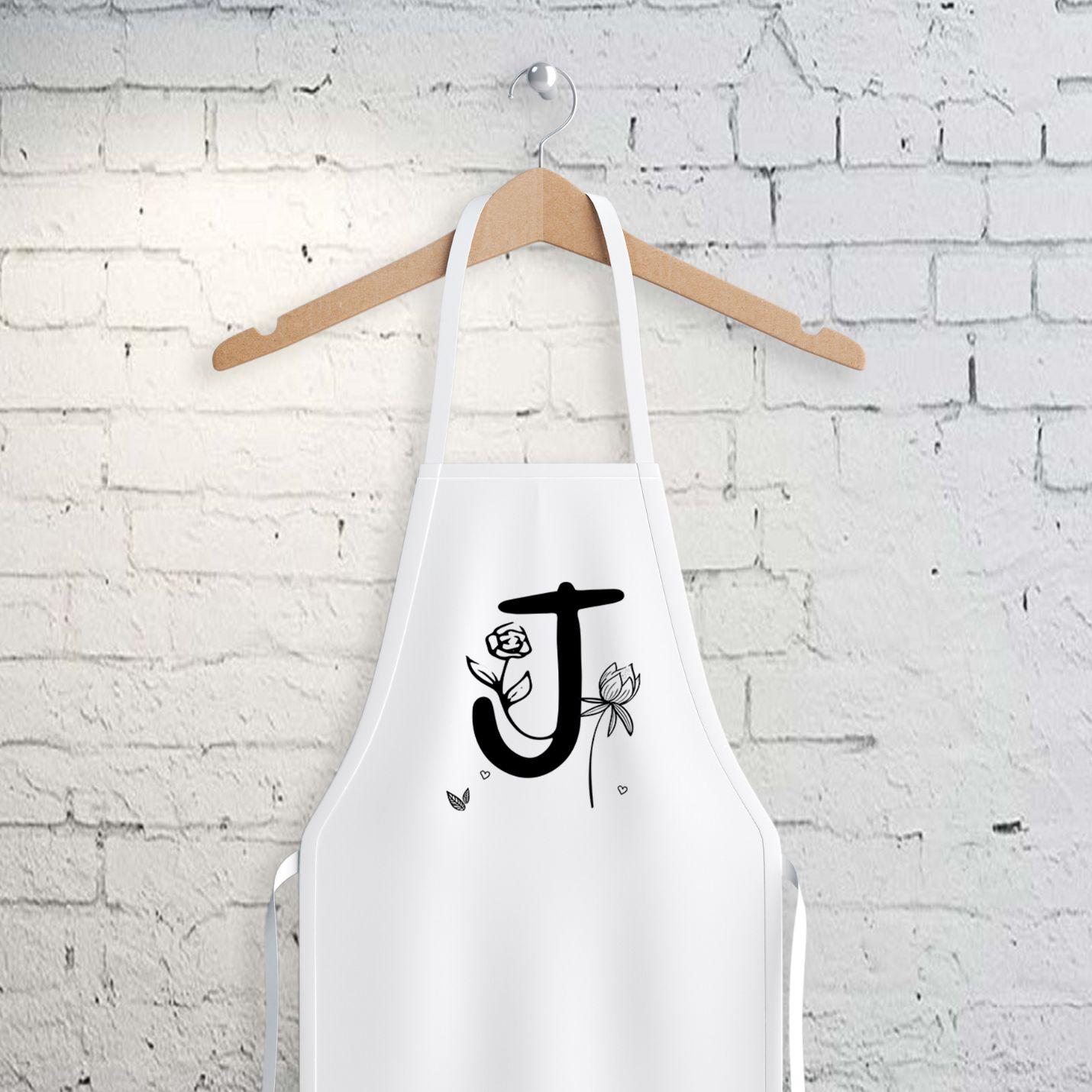 J Harfi Tasarımlı Mutfak Önlüğü