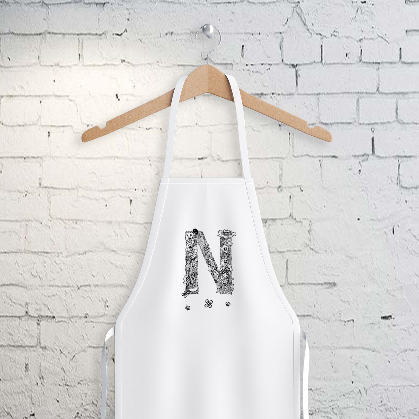 N Harfi Tasarımlı Mutfak Önlüğü