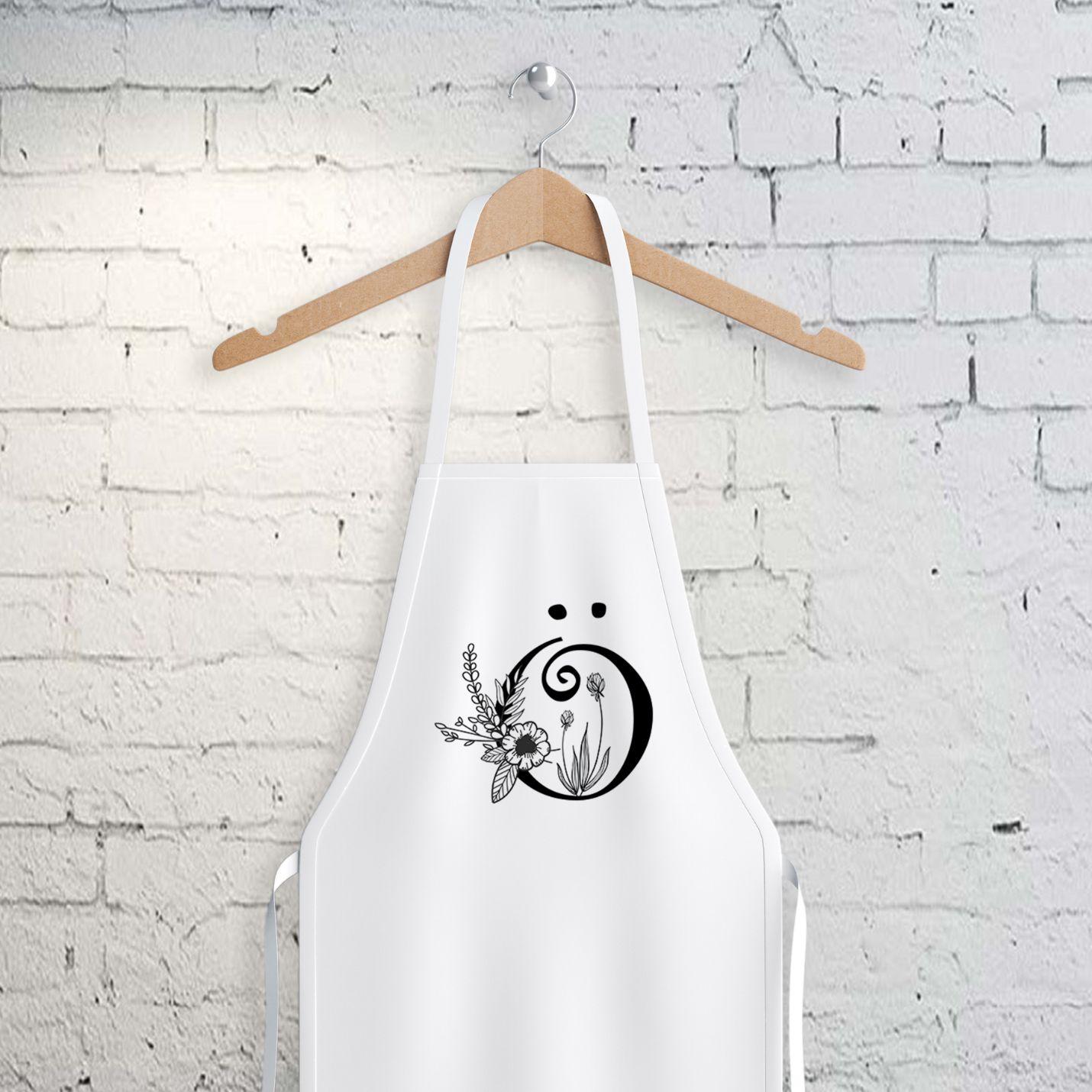 Ö Harfi Tasarımlı Mutfak Önlüğü