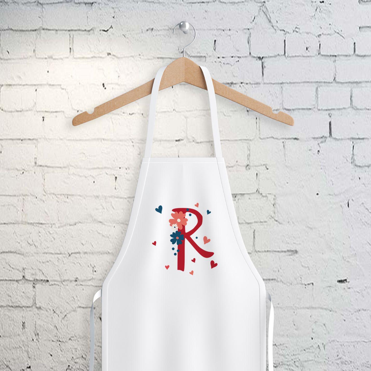 R Harfi Tasarımlı Mutfak Önlüğü