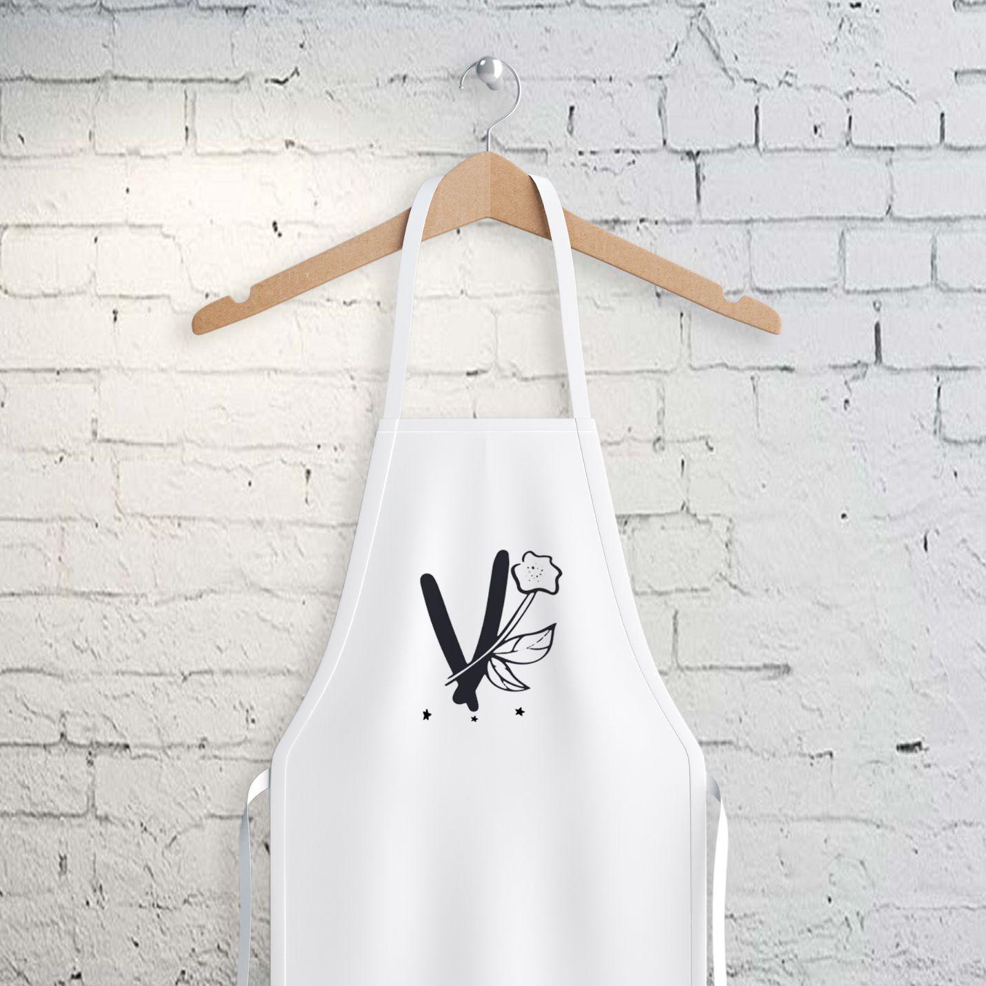 V Harfi Tasarımlı Mutfak Önlüğü