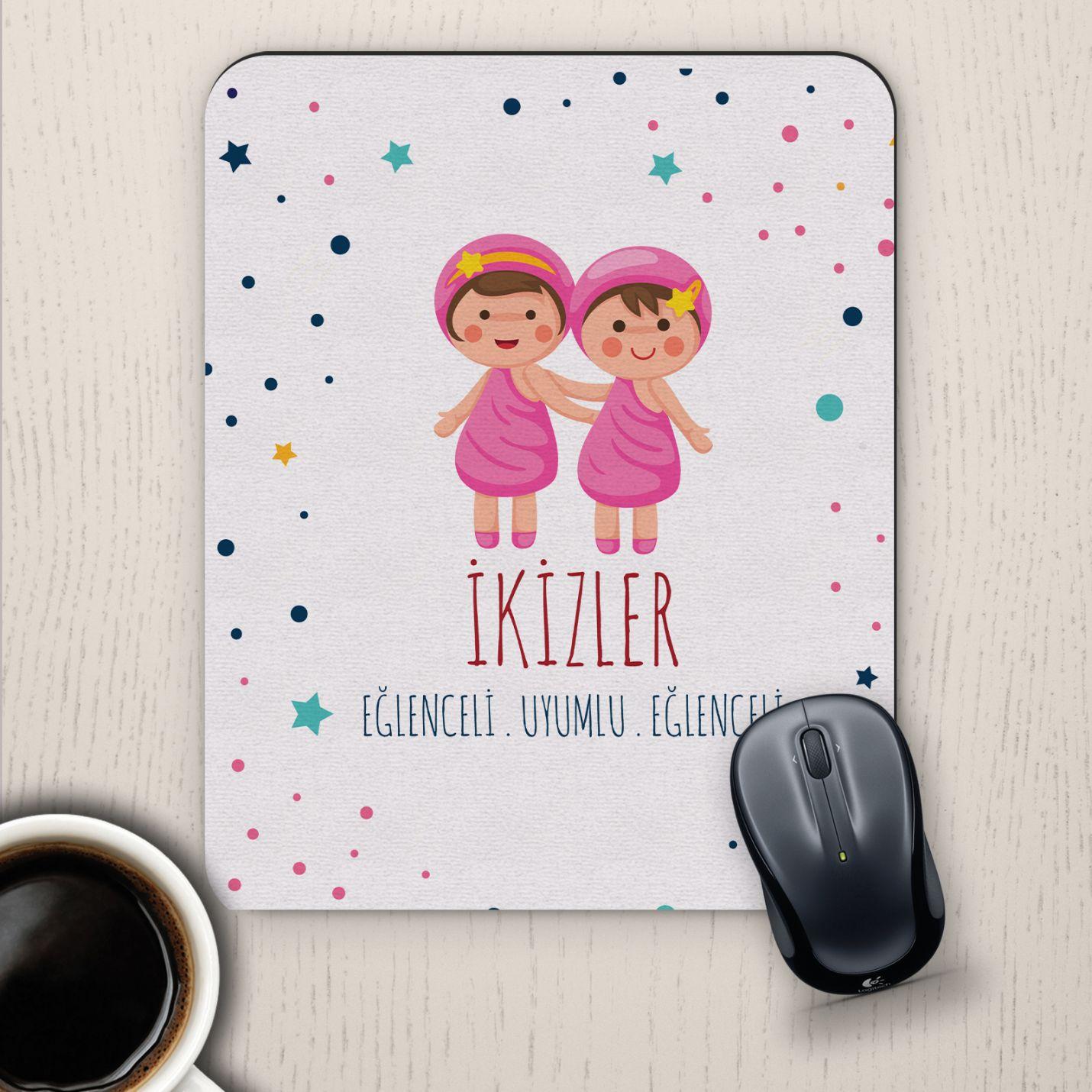 İkizler Burçlarına Özel Sevimli Mouse Pad