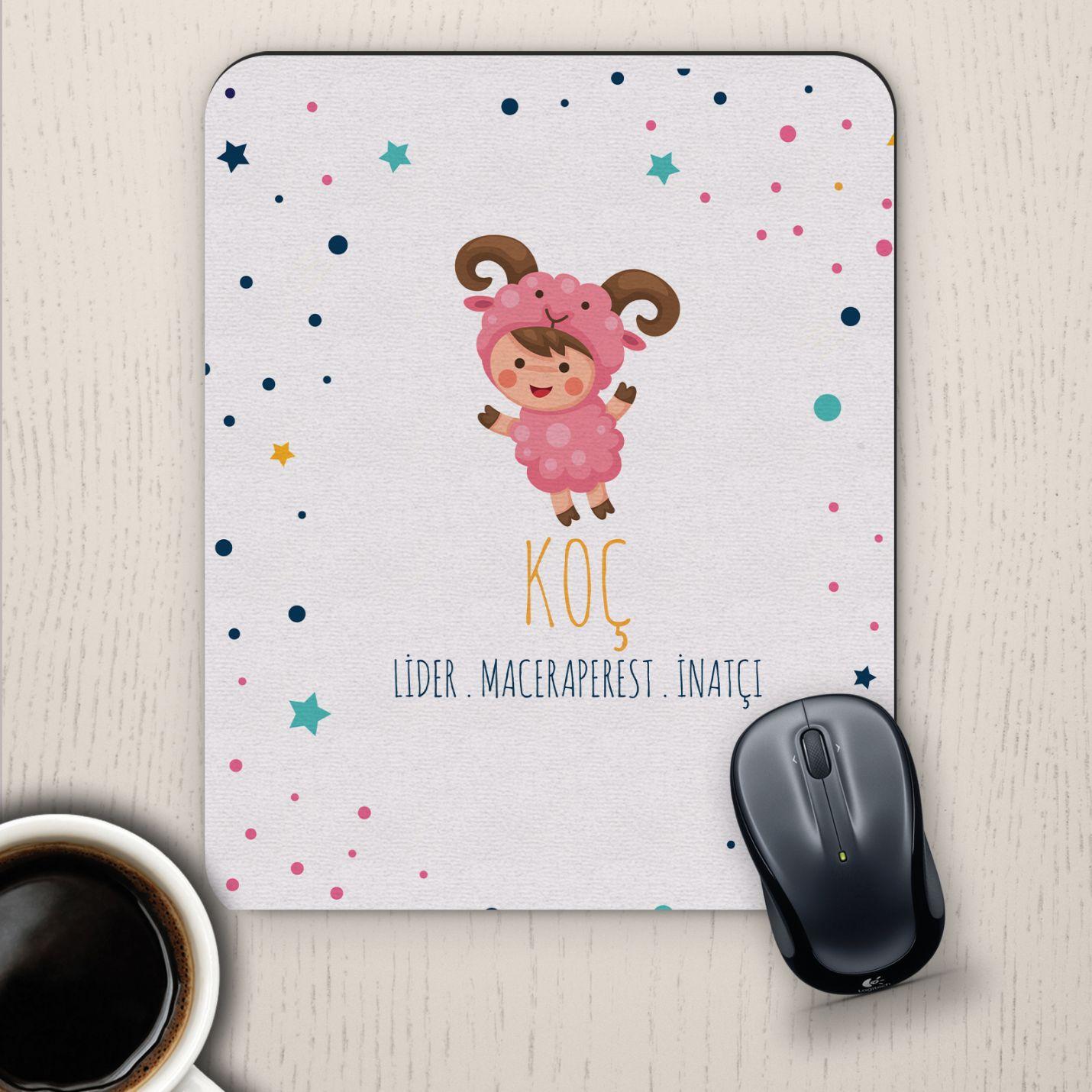 Koç Burçlarına Özel Sevimli Mouse Pad