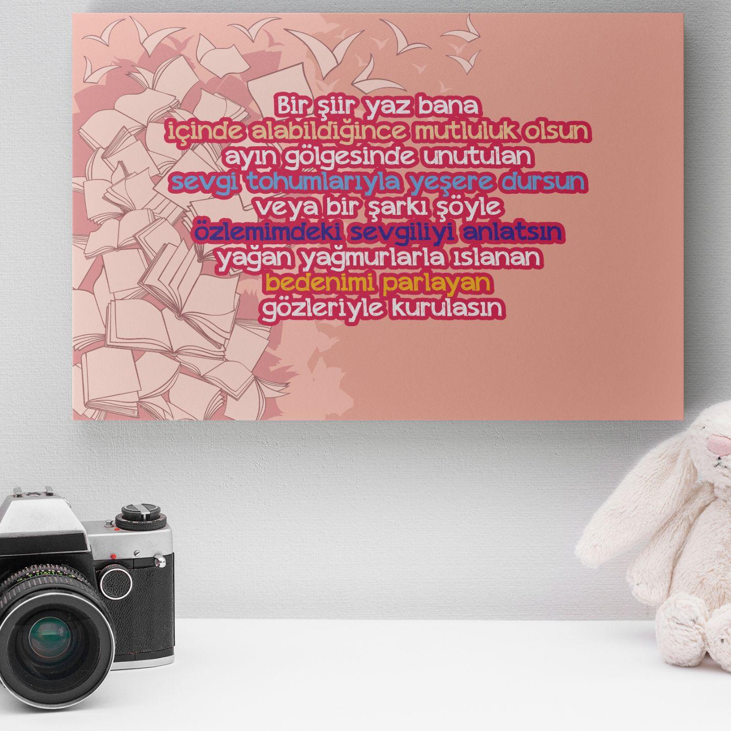 Romantik Tasarımlı Mini Kanvas Tablo - No6