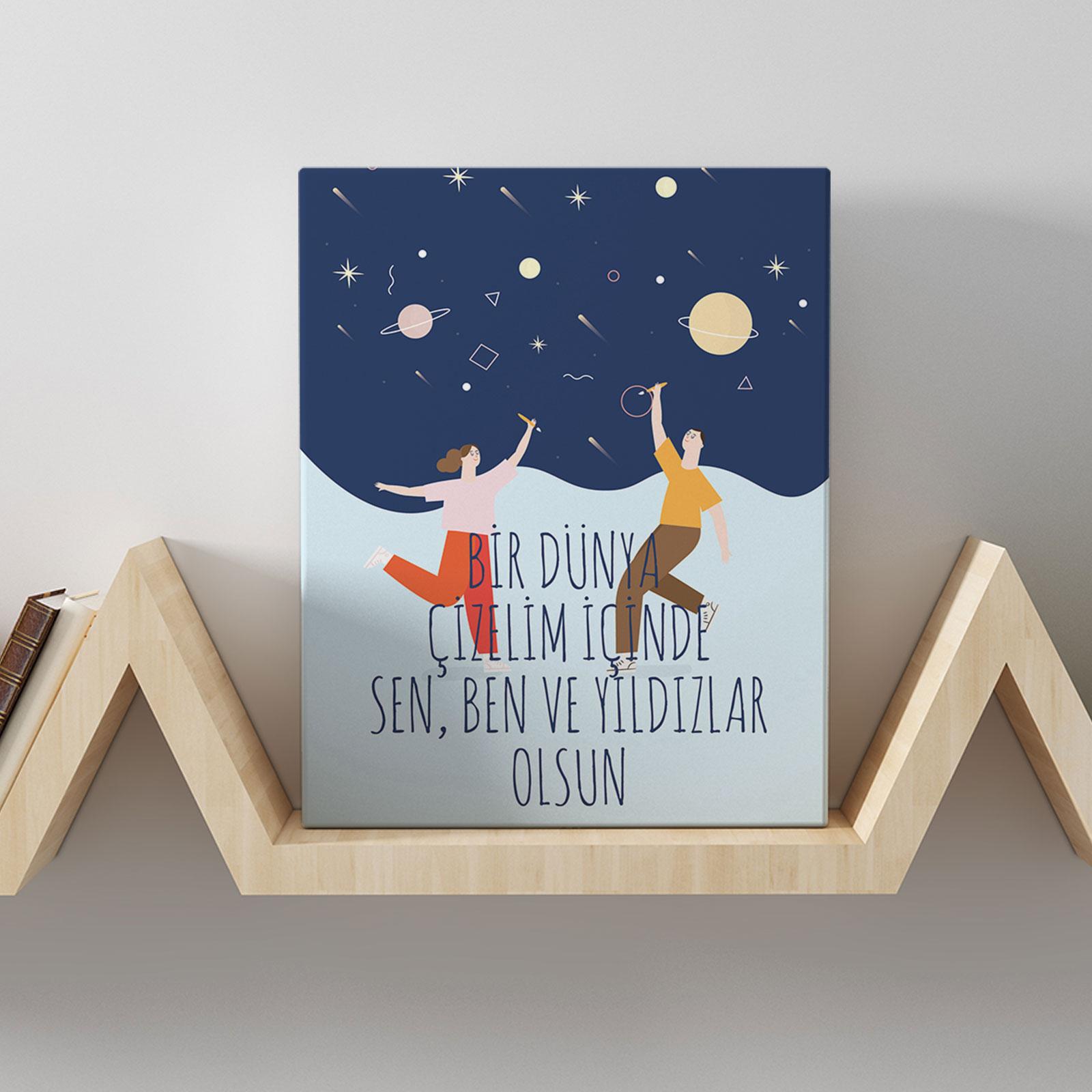 Romantik Tasarımlı Mini Kanvas Tablo - No31