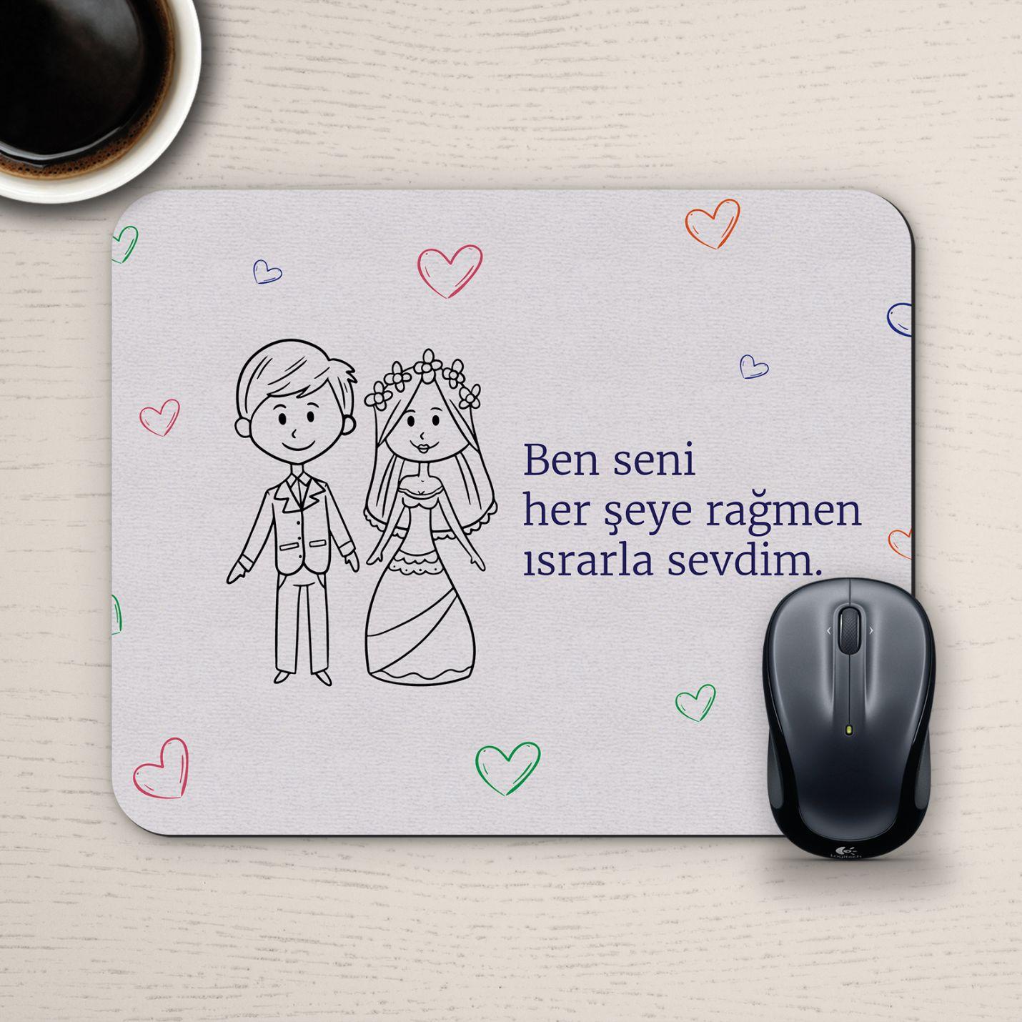 Özel Tasarım Romantik Mousepad - No10