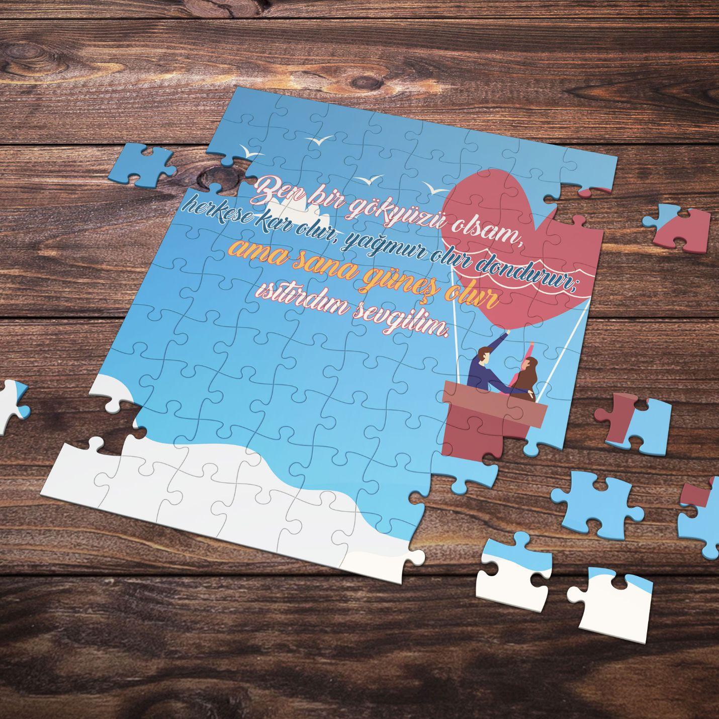 99 Parça Romantik Tasarımlı Puzzle Yapboz No2
