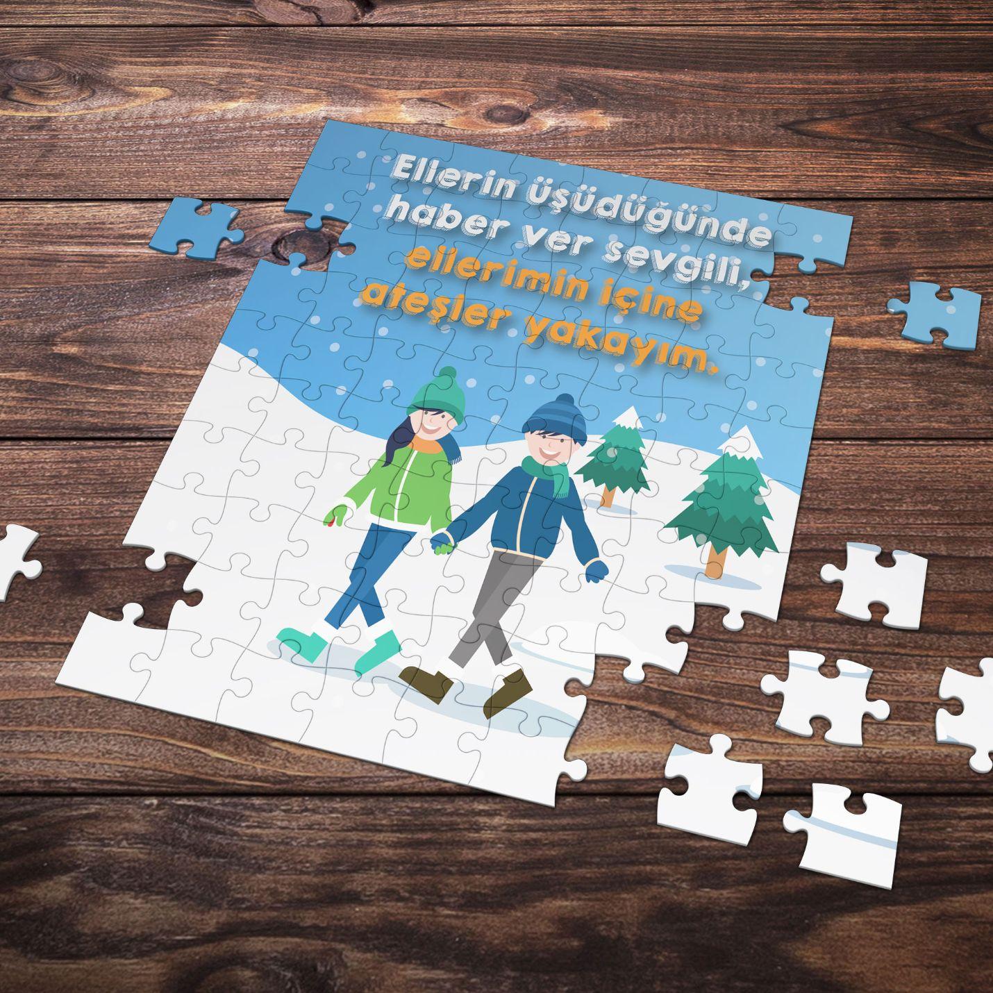 99 Parça Romantik Tasarımlı Puzzle Yapboz No3