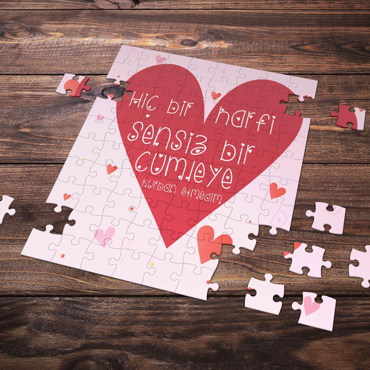 99 Parça Romantik Tasarımlı Puzzle Yapboz No4