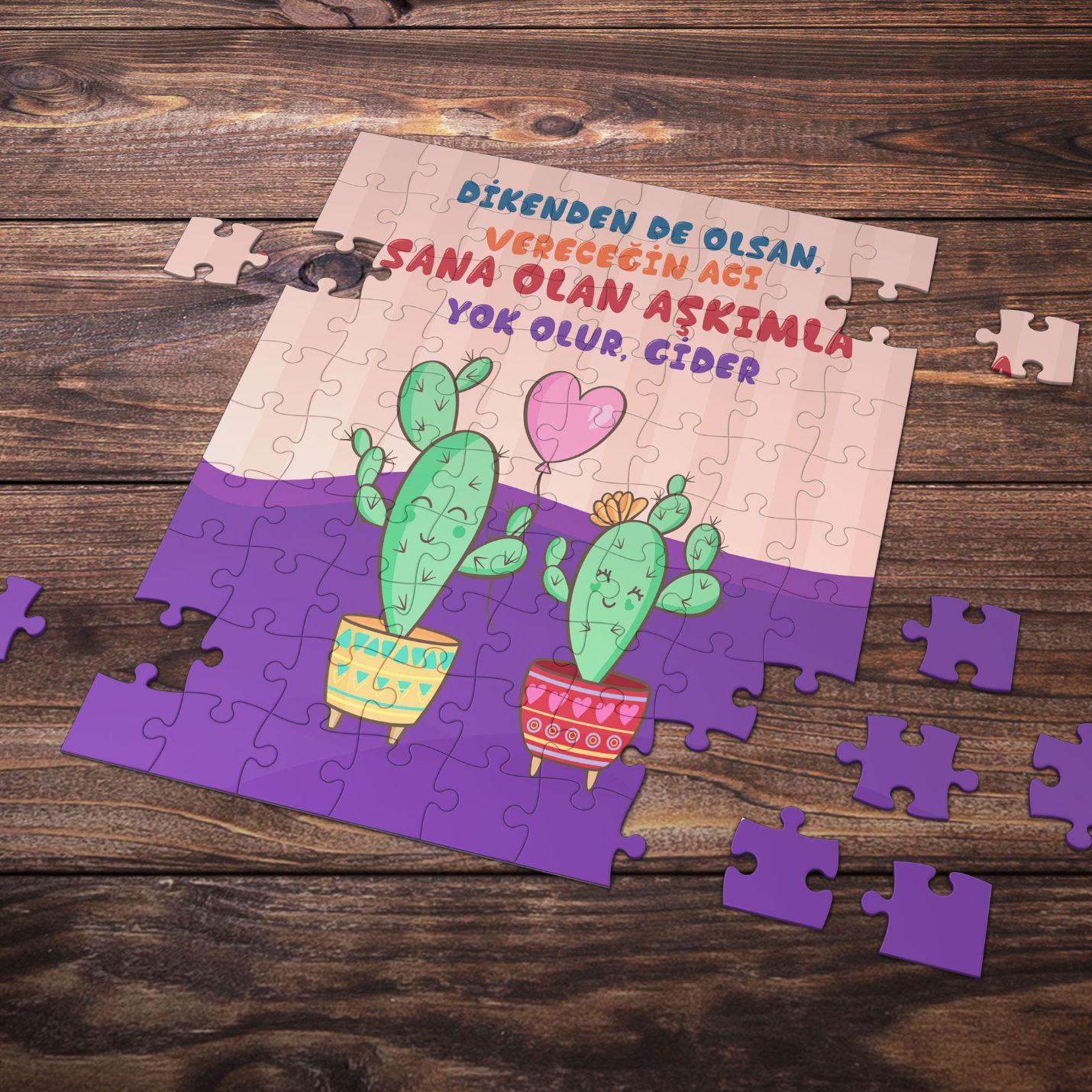 99 Parça Romantik Tasarımlı Puzzle Yapboz No9