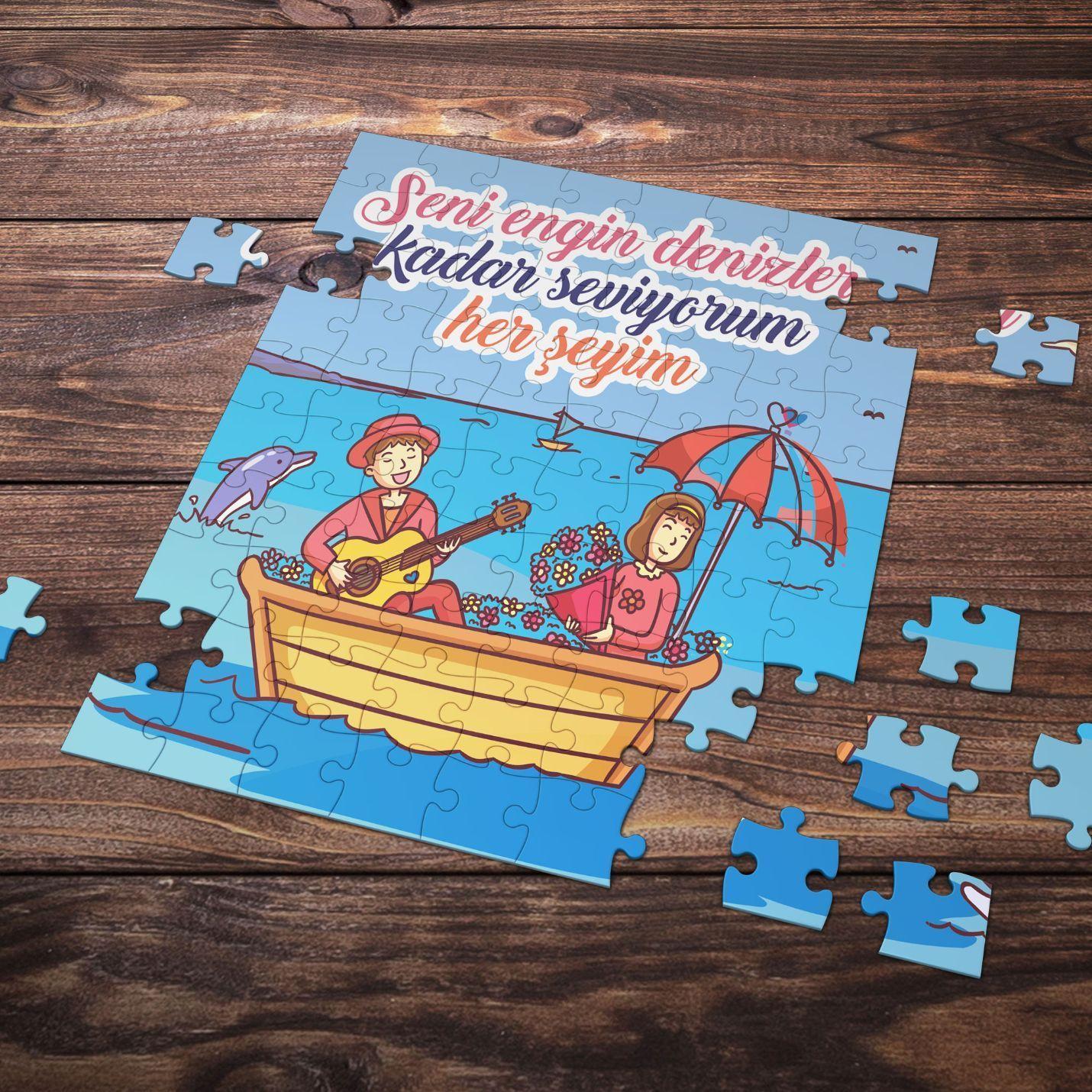 99 Parça Romantik Tasarımlı Puzzle Yapboz No15
