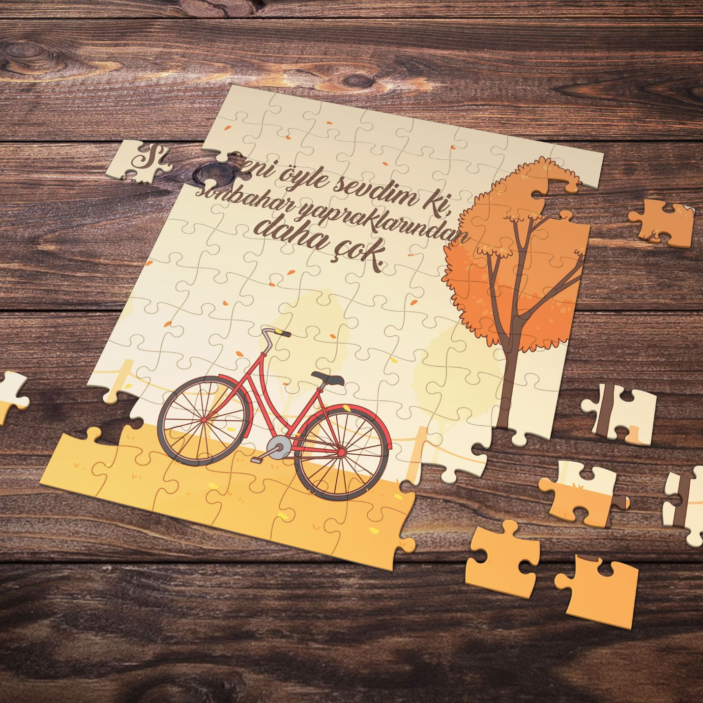 99 Parça Romantik Tasarımlı Puzzle Yapboz No14