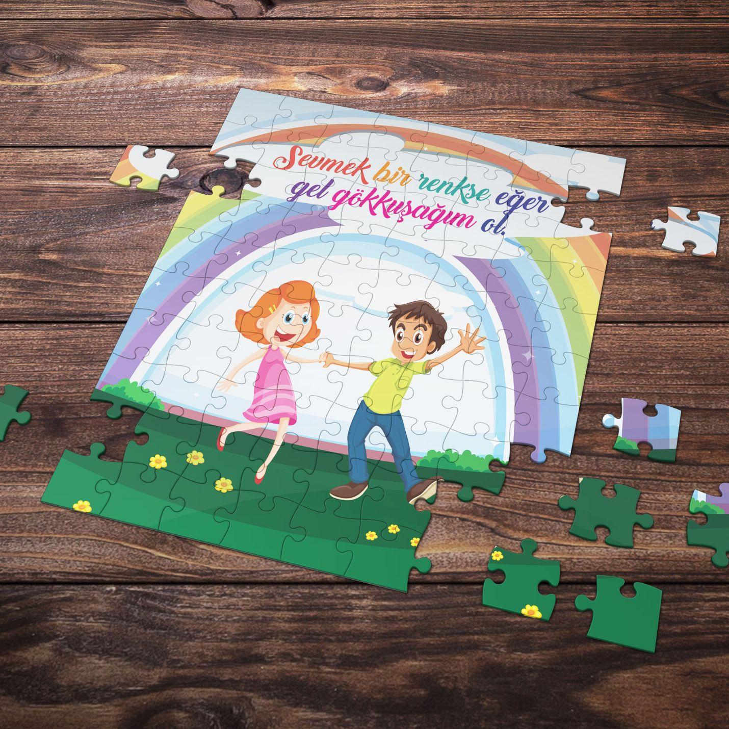 99 Parça Romantik Tasarımlı Puzzle Yapboz No13