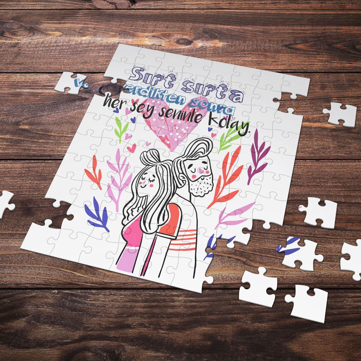 99 Parça Romantik Tasarımlı Puzzle Yapboz No11