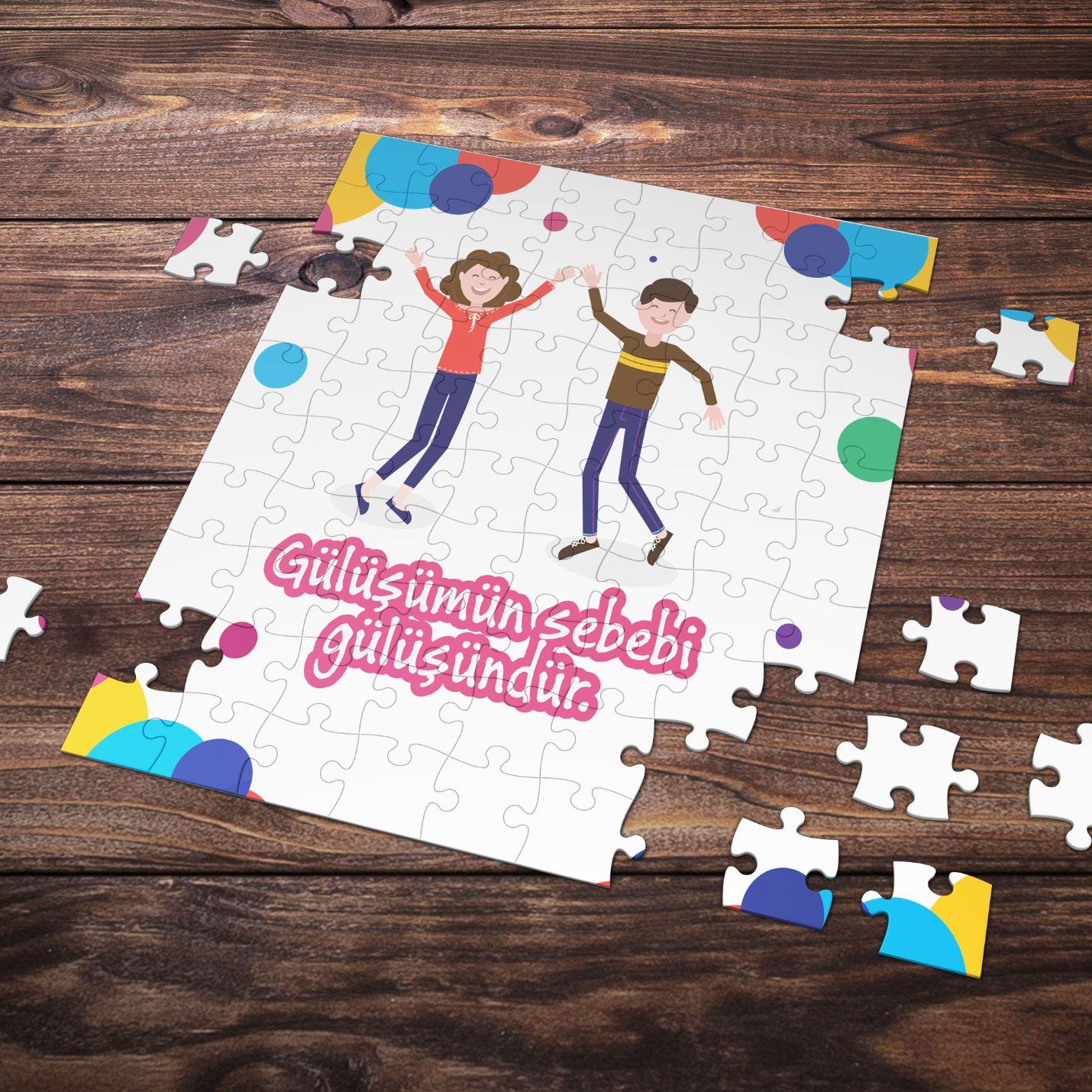 99 Parça Romantik Tasarımlı Puzzle Yapboz No17