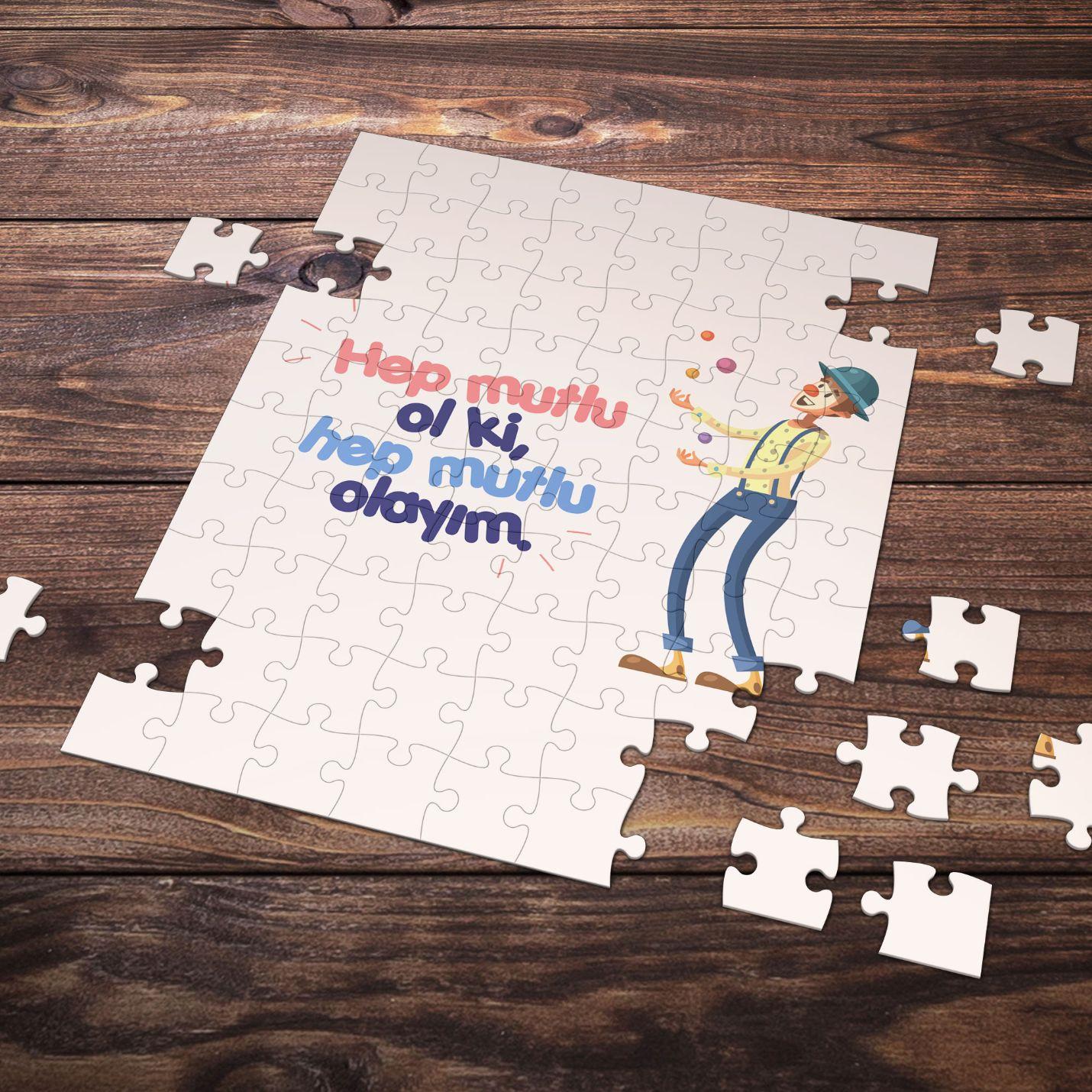 99 Parça Romantik Tasarımlı Puzzle Yapboz No18