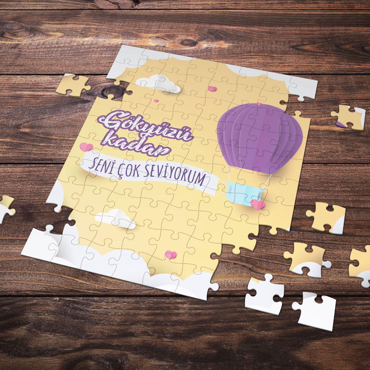 99 Parça Romantik Tasarımlı Puzzle Yapboz No19