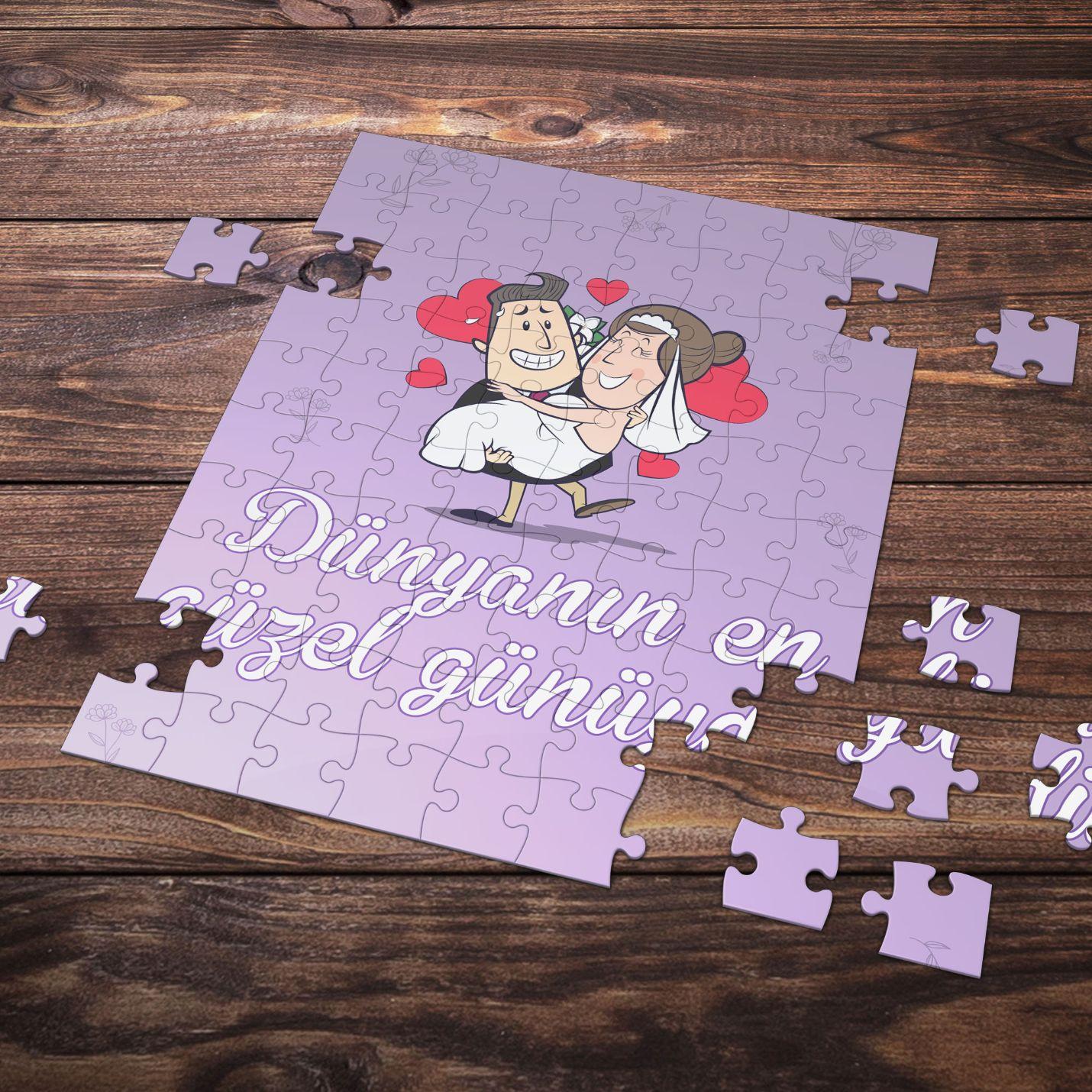 99 Parça Romantik Tasarımlı Puzzle Yapboz No21