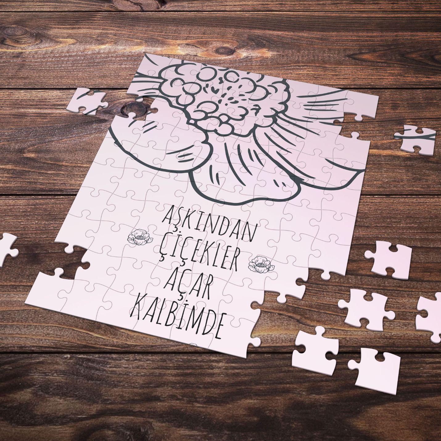 99 Parça Romantik Tasarımlı Puzzle Yapboz No22