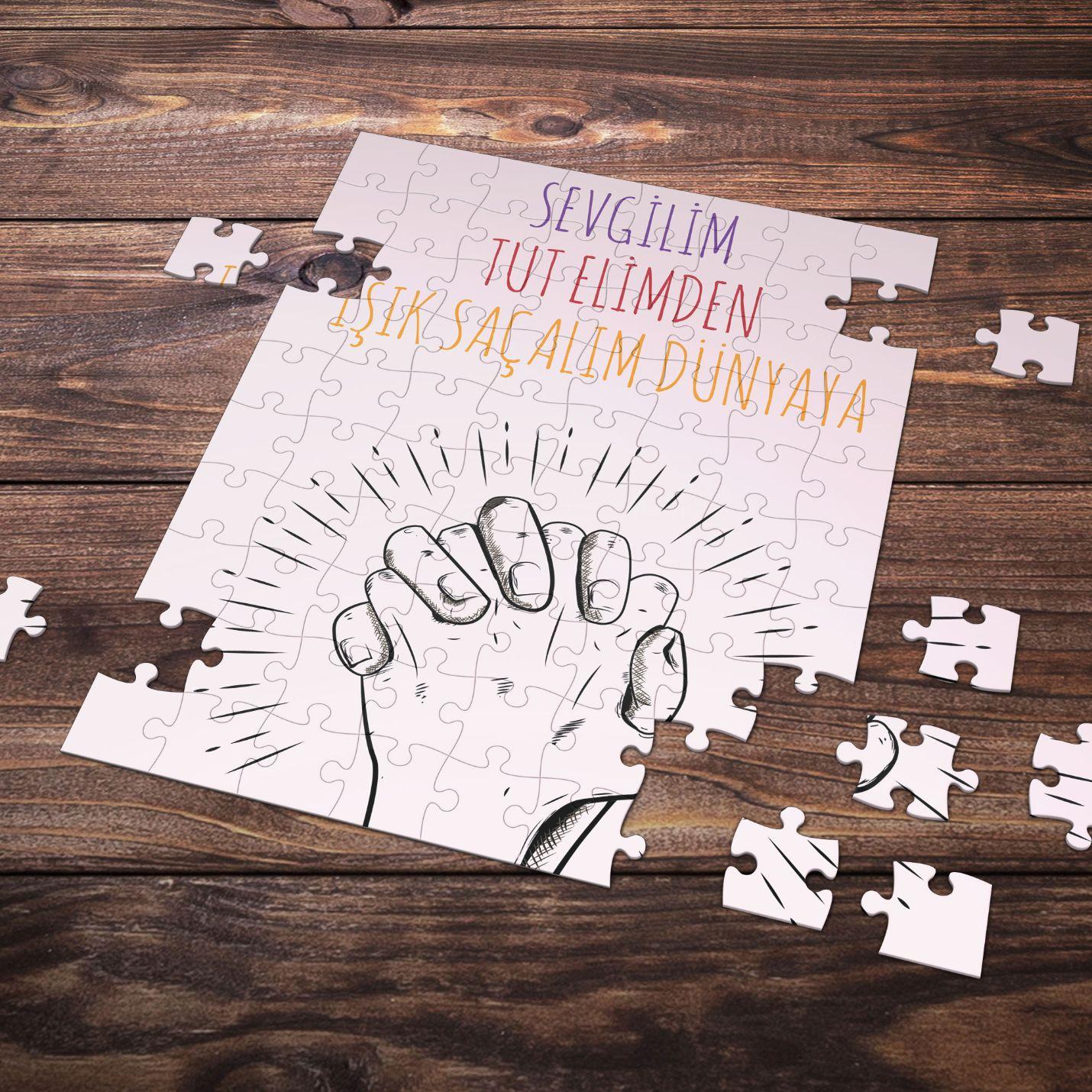 99 Parça Romantik Tasarımlı Puzzle Yapboz No23