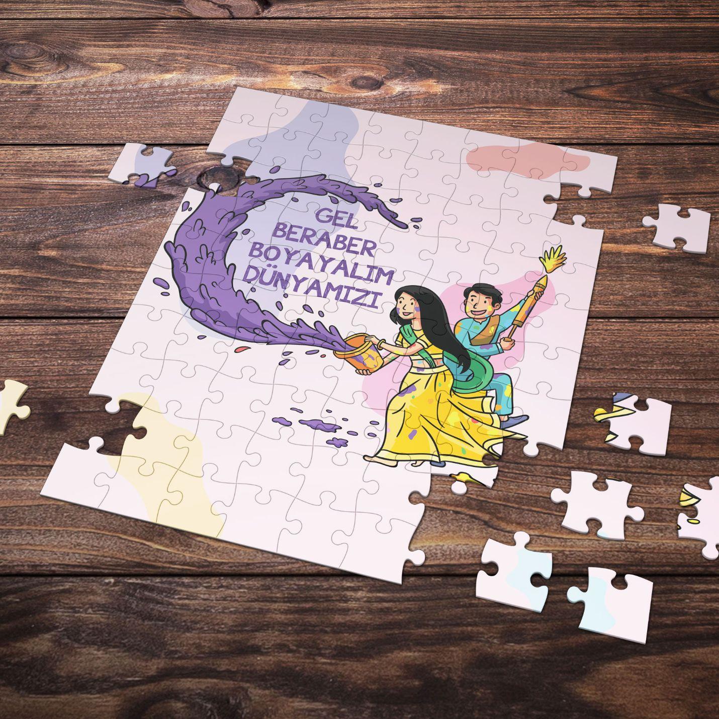 99 Parça Romantik Tasarımlı Puzzle Yapboz No24