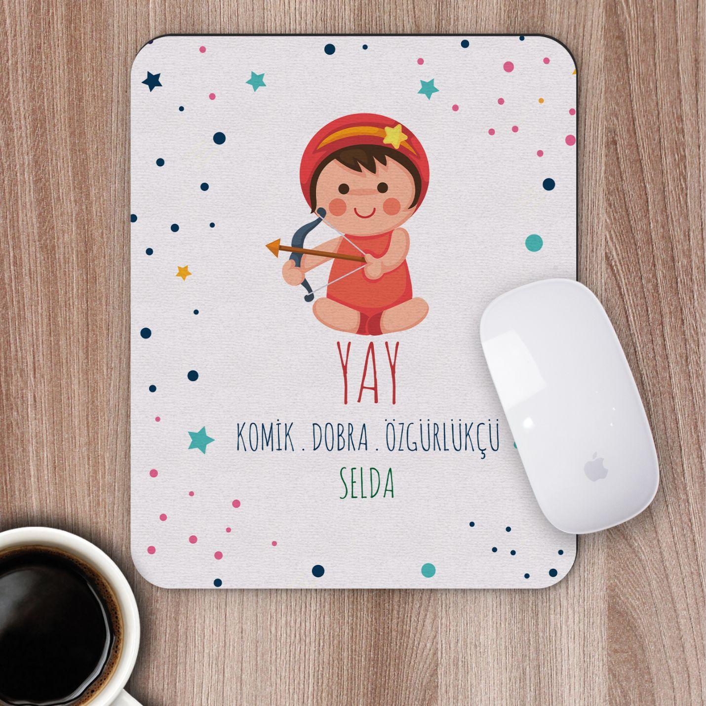 Kişiye Özel Yay Burcu Tasarımlı Mousepad