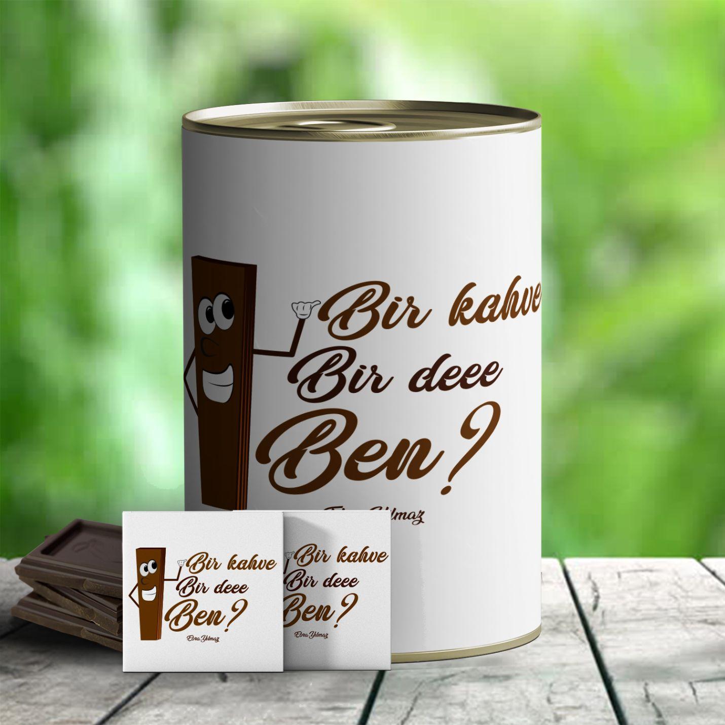 Bir Kahve Temalı İsim Yazılı Hediye Konservesi
