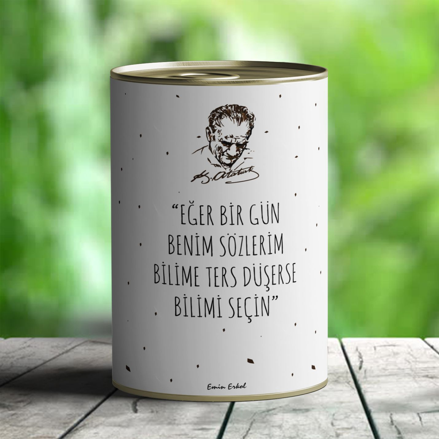 Kişiye Özel Atatürk Temalı Çikolata Dolu Konserve