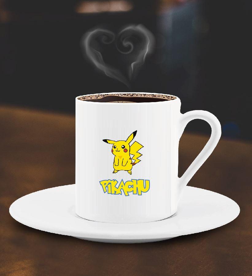 Sevimli Pikachu Tasarımlı Türk Kahve Fincanı - 2