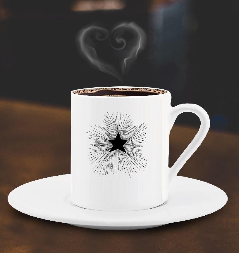 Yıldız Tasarımlı Türk Kahve Fincanı - 4