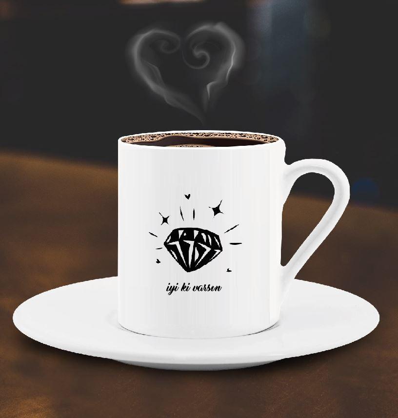 İyi ki Varsın Tasarımlı Türk Kahve Fincanı - 6