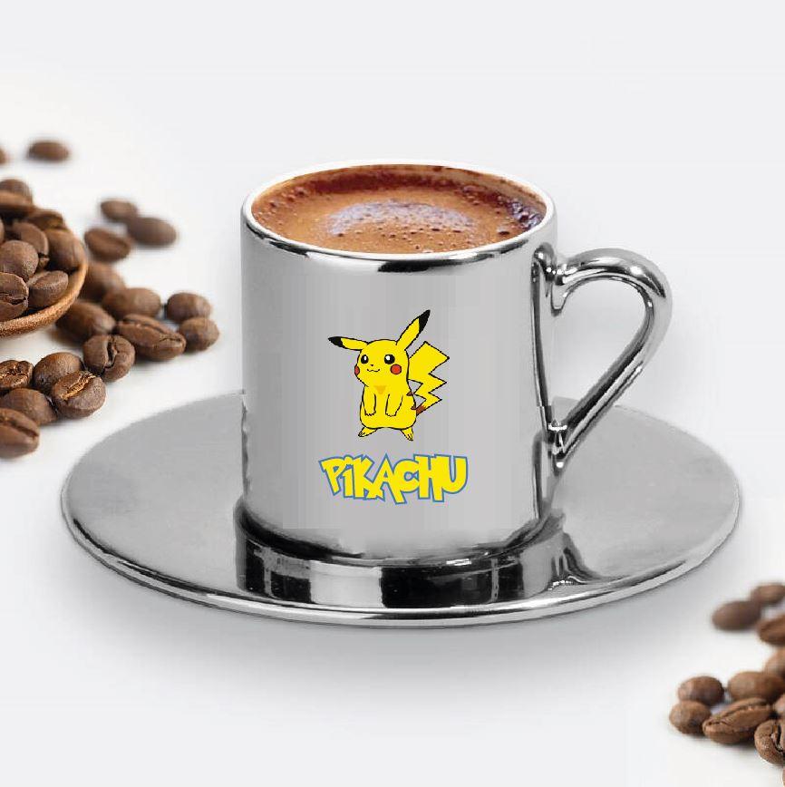 Pikachu Tasarımlı Türk Kahve Fincanı - 16