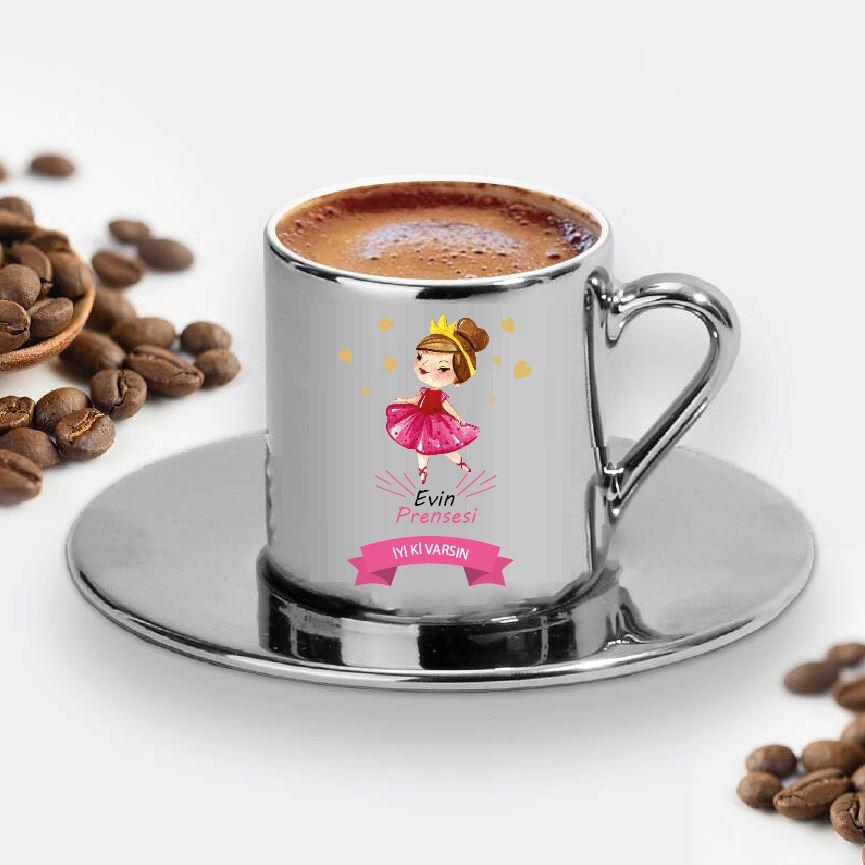 Evin Prensesi Tasarımlı Türk Kahve Fincanı - 20
