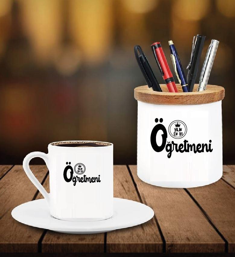 Yılın Öğretmeni Tasarımlı Kalemlik ve Kahve Fincanı