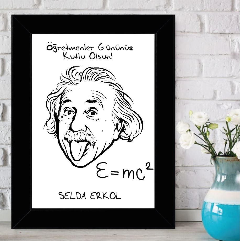Kişiye Özel Einstein Tasarımlı Çerçeve