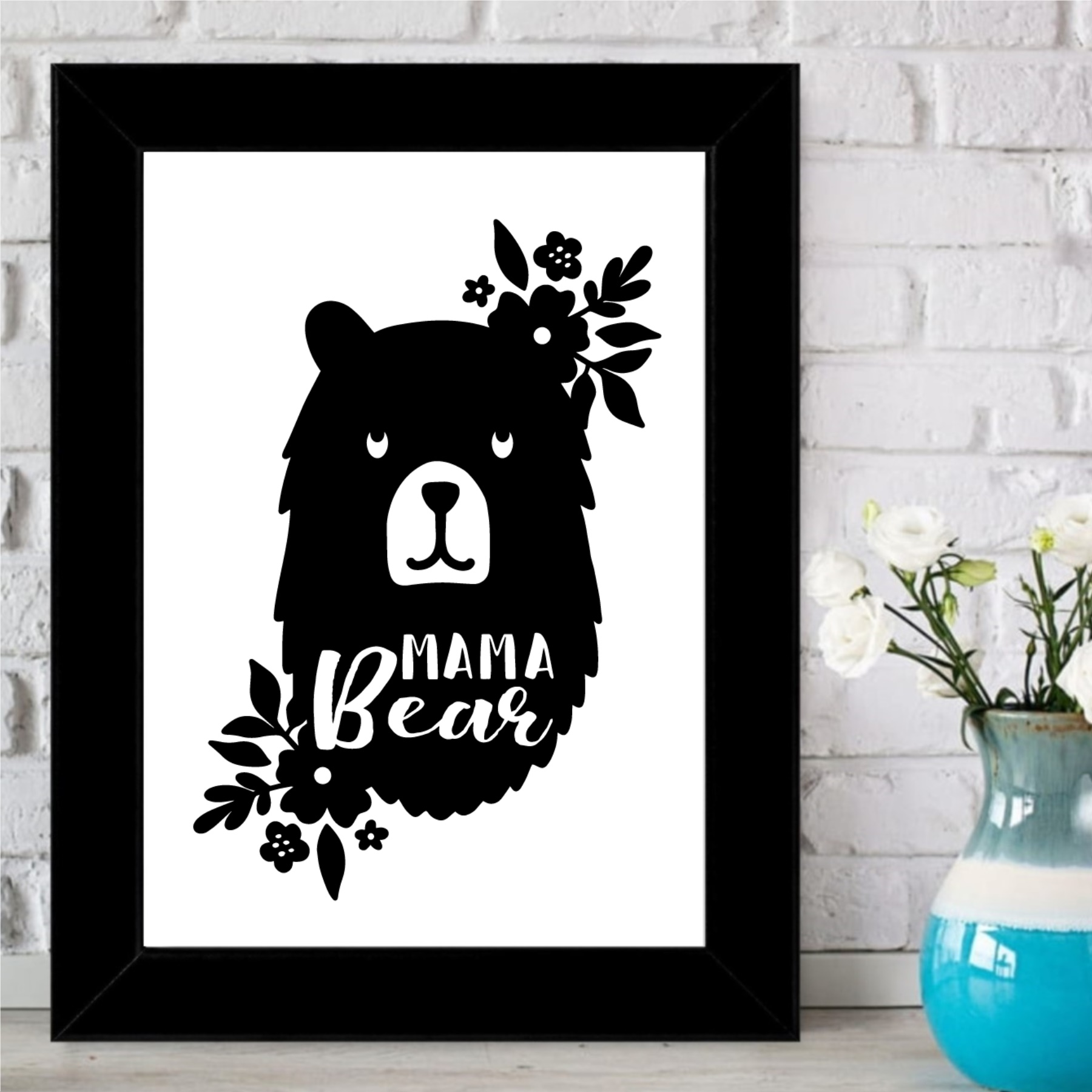 Mama Bear Tasarımlı Dekoratif Çerçeve -14