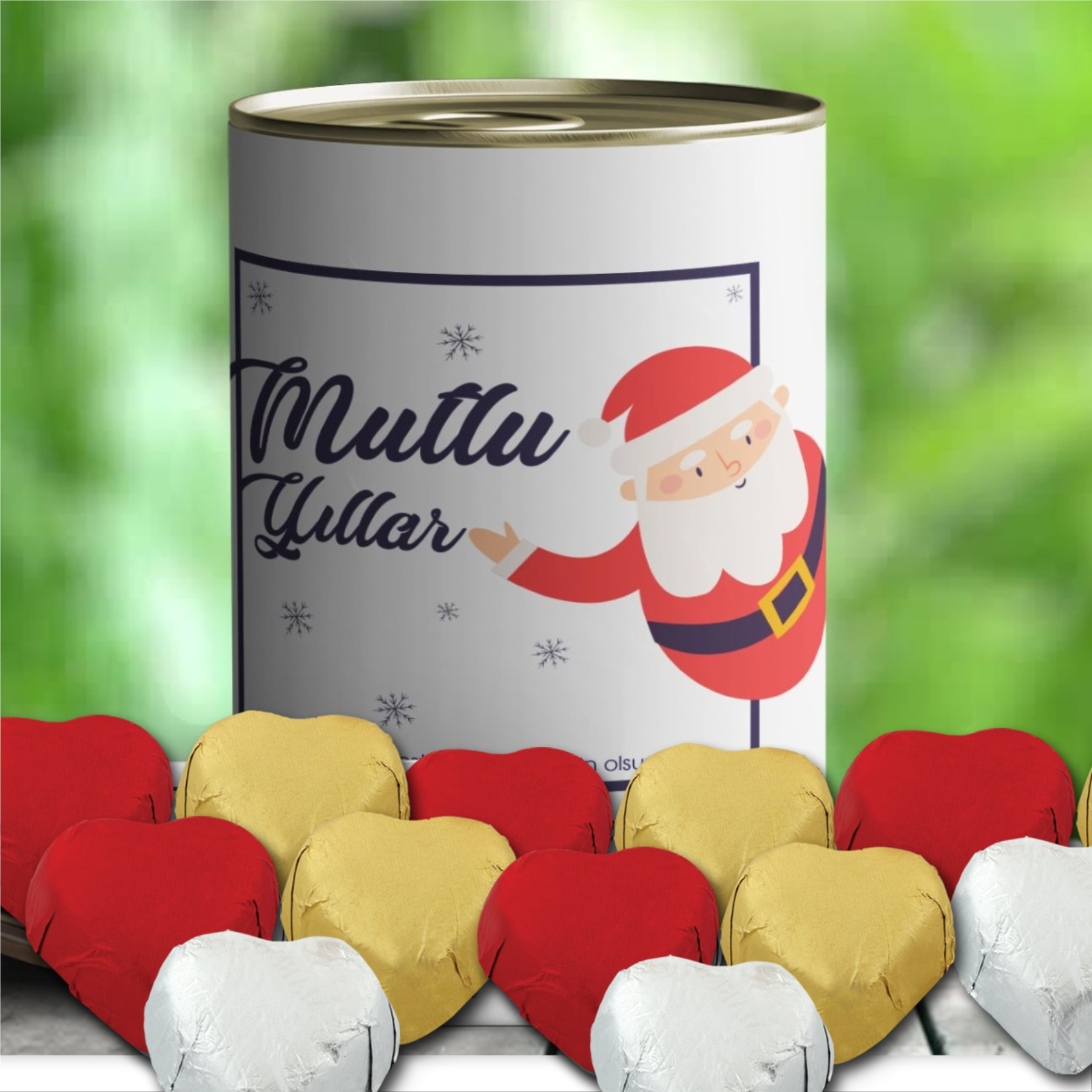 Noel Baba Tasarımlı Mabel Çikolata Konservesi -31